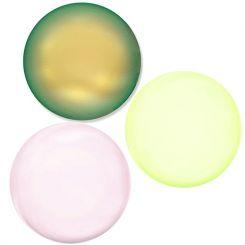 Сваровски перли монетки - три цвята12х8мм (3бр)